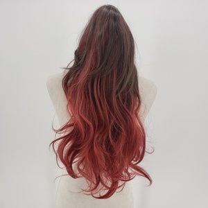 Miss U Hair brown & red long wig cosplay costume